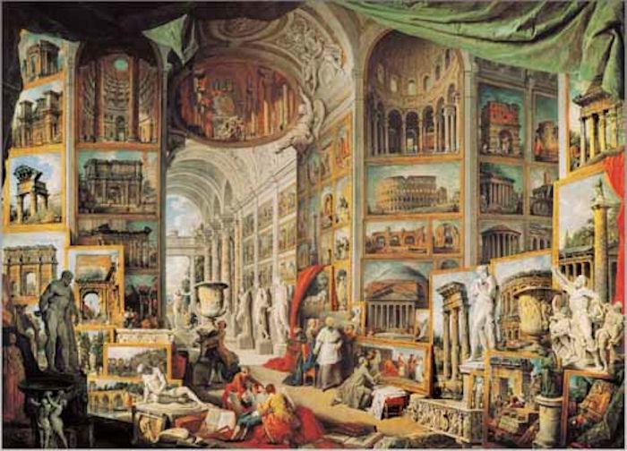 Puzzle Ricordi Galería con Vistas de la Antigua Roma de 1500 pzs