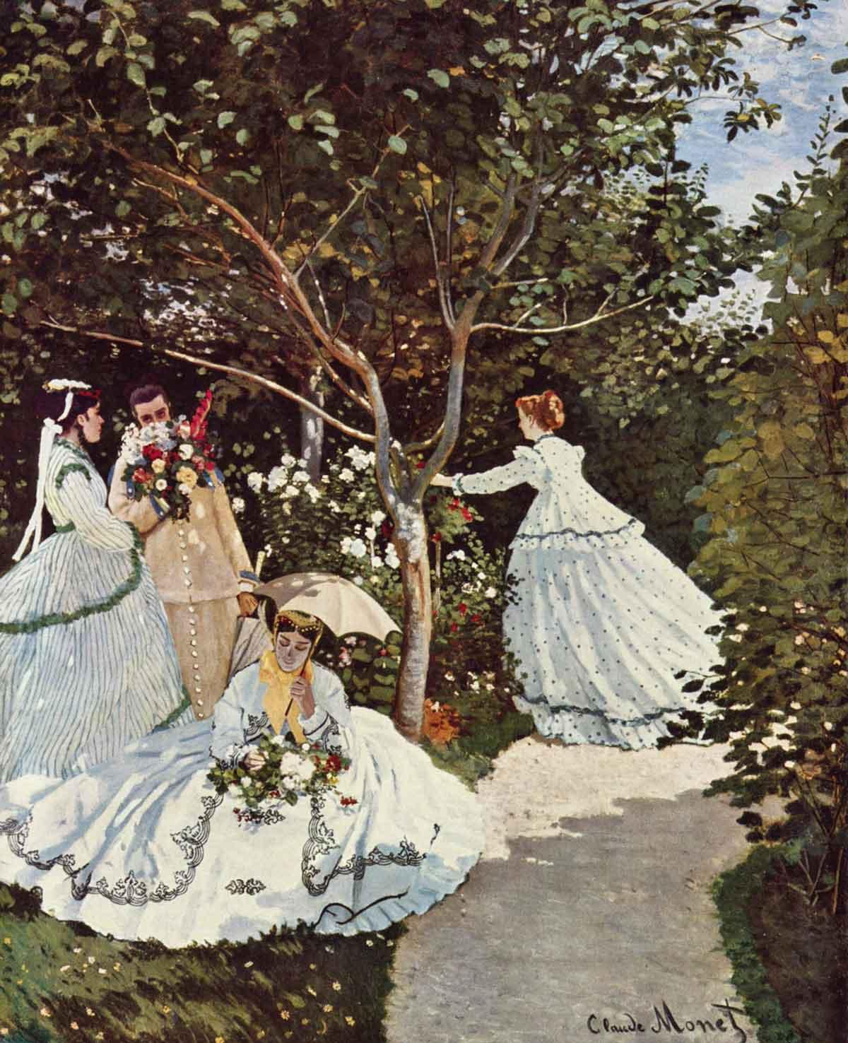 Puzzle Ricordi Mujeres en el Jardín de 2000 Piezas