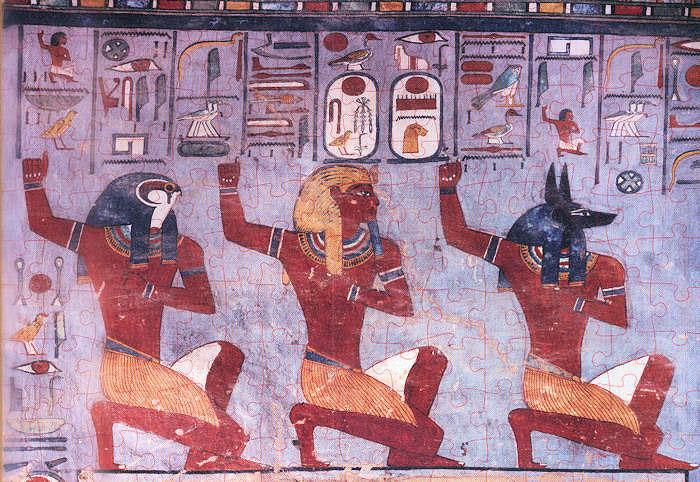 Puzzle Ricordi Ramsés III de Rodillas ante los Dioses de 1000 Pz