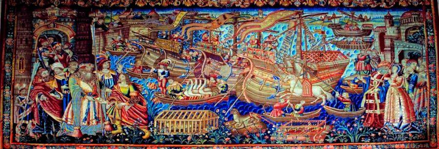 Puzzle Ricordi Vasco de Gama Llega a Calcuta de 1000 Piezas