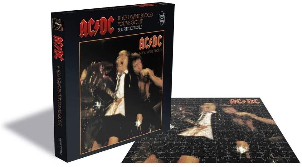 Puzzle Rock Saws If You Want Blood, AC/DC de 500 Piezas