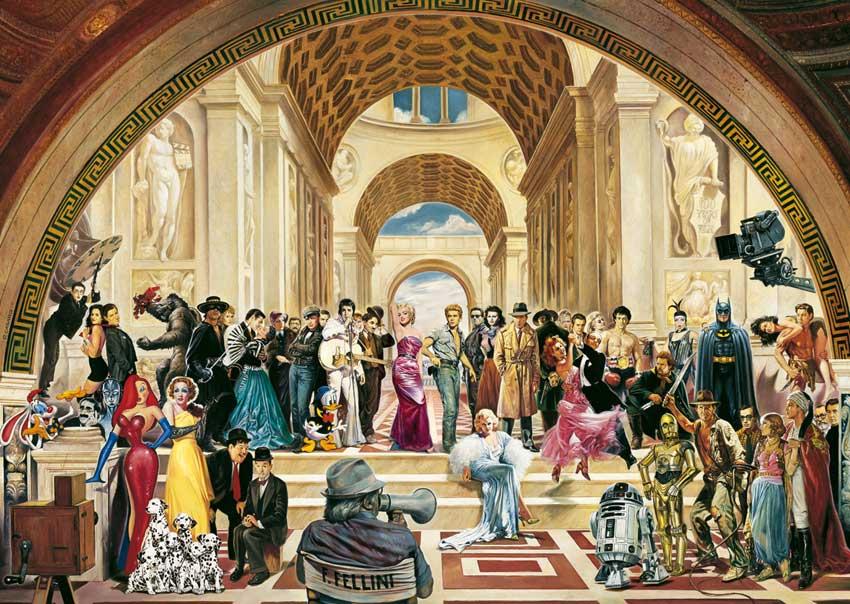 Puzzle Schmidt 100 Años de Cine de 1000 Piezas