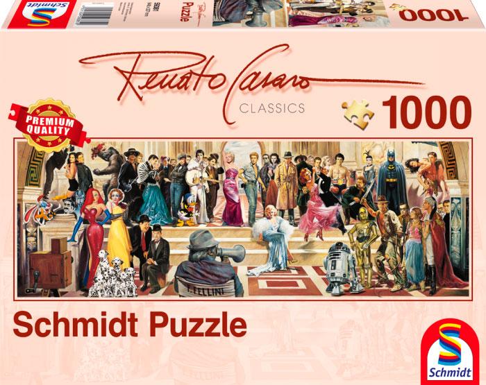 Puzzle Schmidt 100 Años de Cine Panorama de 1000 Piezas