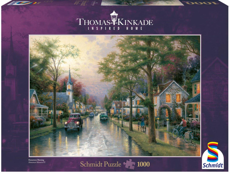Puzzle Schmidt Amanece en la Pequeña Ciudad de 1000 Piezas