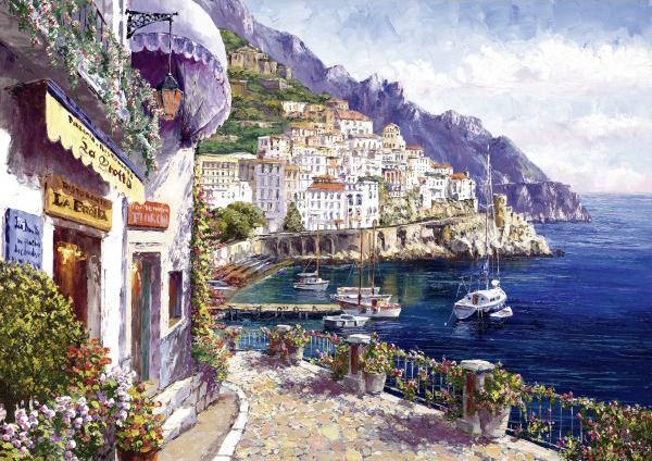 Puzzle Schmidt Amanecer en la Costa de Amalfi de 2000 Piezas