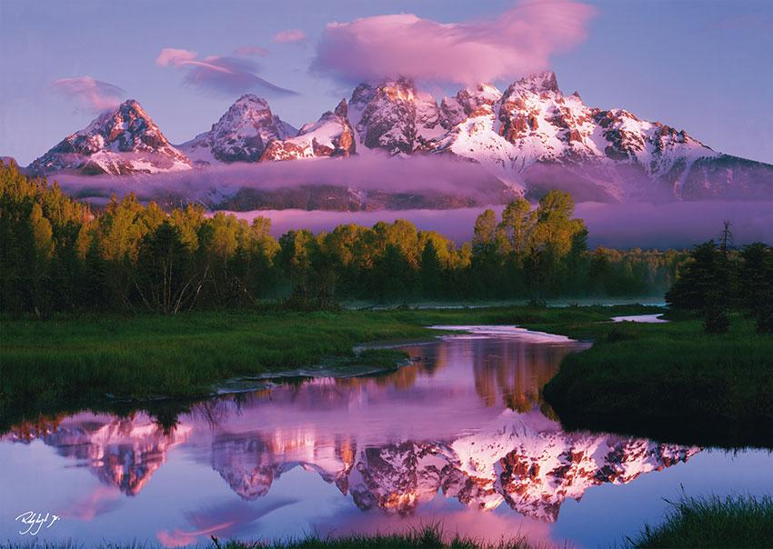 Puzzles de Paisajes, Puzzle Schmidt Amanecer en las Montañas Nevadas de 1000 Pieza