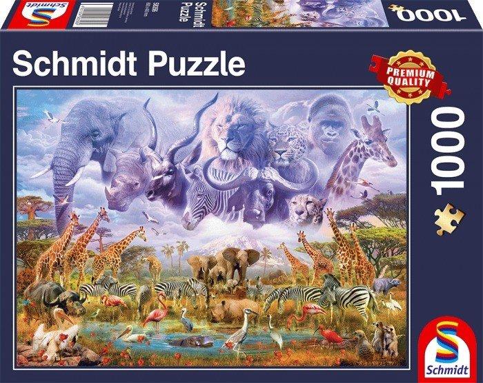 Puzzle Schmidt Animales en la Charca de Agua de 1000 Piezas