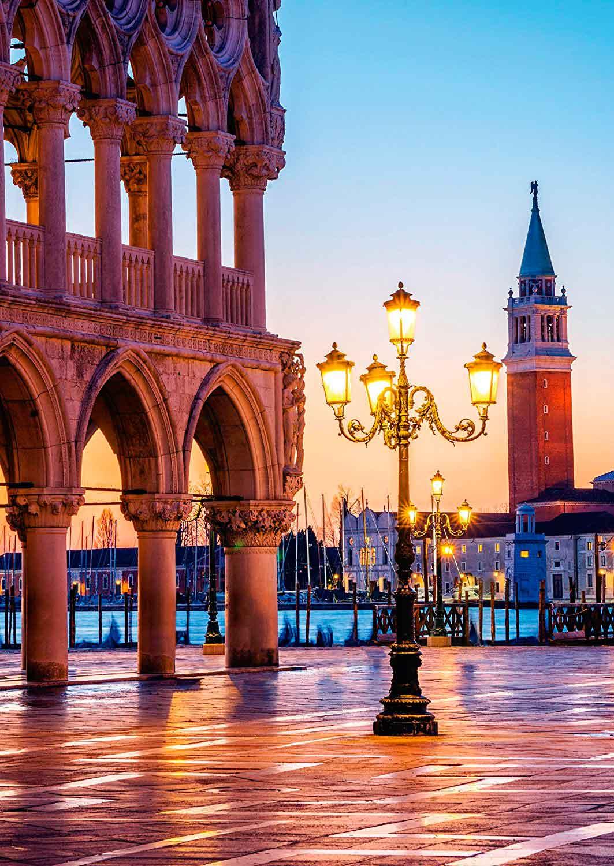 Puzzle Schmidt Atardecer en la Piazzetta, Venecia de 500 Piezas