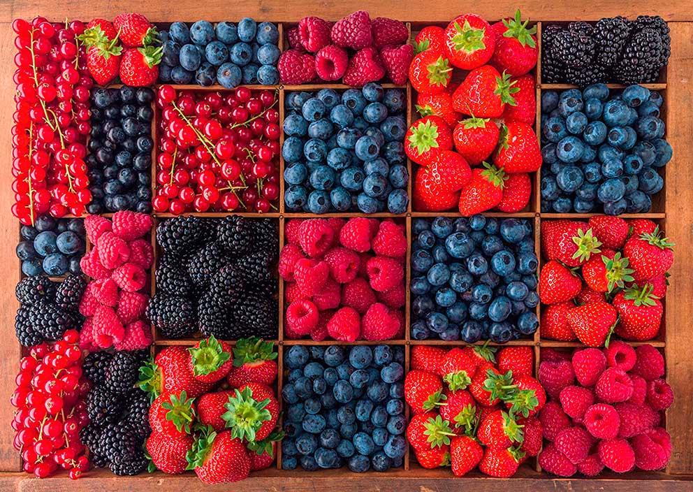 Puzzle Schmidt Bodegón de Frutos del Bosque de 1000 Piezas