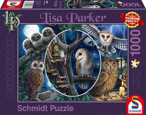 Puzzle Schmidt Búhos Misteriosos de 1000 Piezas