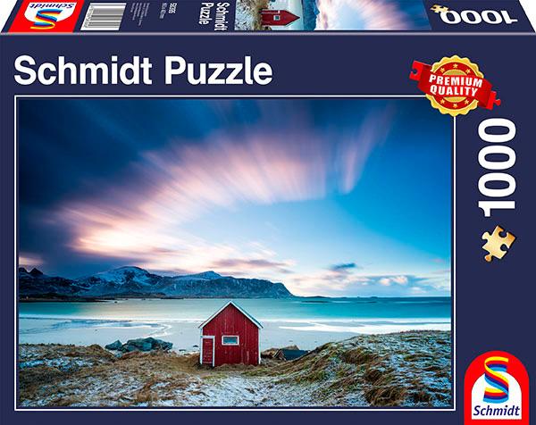 Puzzle Schmidt Cabaña en la Costa Atlántica de 1000 Pieza
