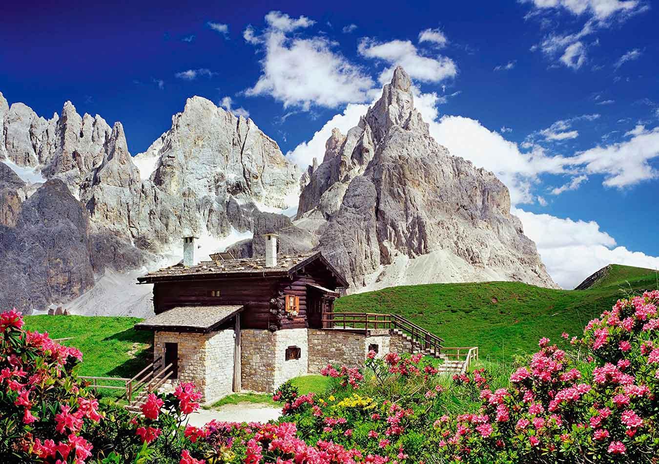 Puzzle Schmidt Cabaña Segantini, Dolomitas de 1500 Piezas