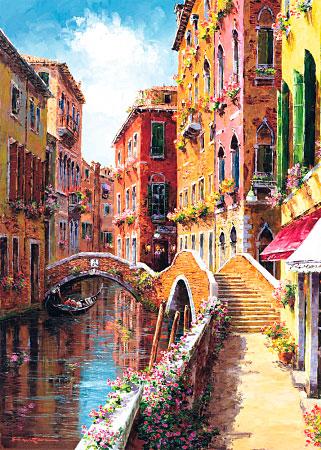 Puzzle Schmidt Calle de Venecia de 1000 Piezas