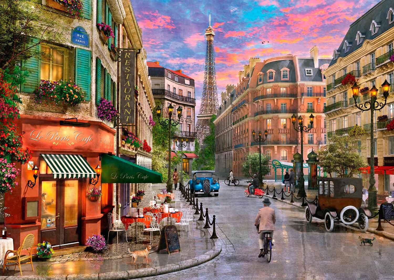 Puzzle Schmidt  Camino a la Torre Eiffel de 1000 Piezas