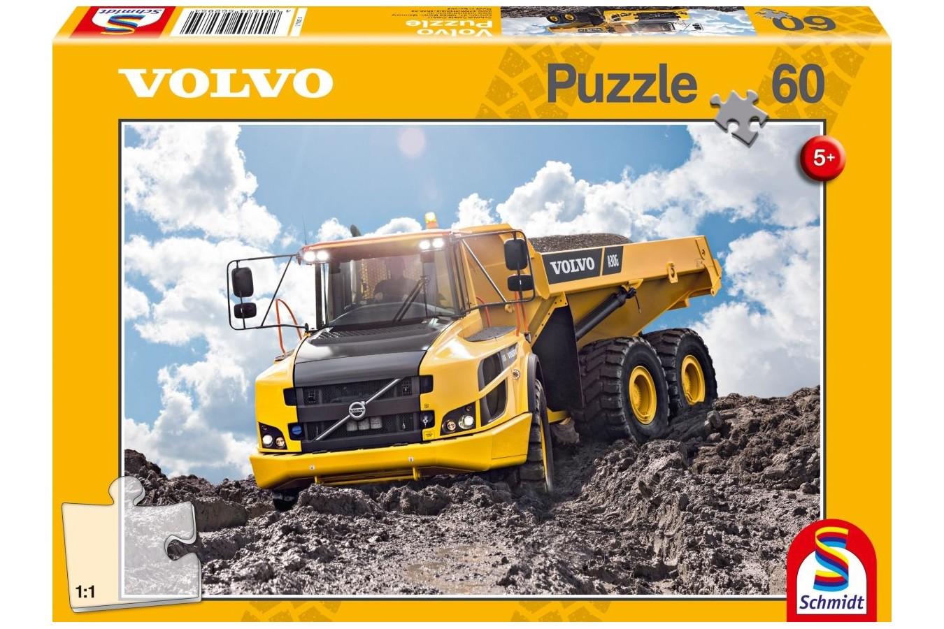 Puzzle Schmidt Camión Volvo A30G de 60 Piezas