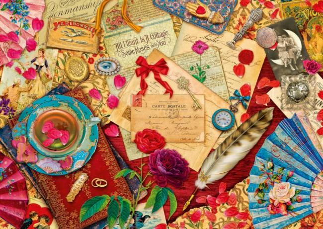 Puzzle Schmidt Cartas de Amor Vintage de 1000 Piezas