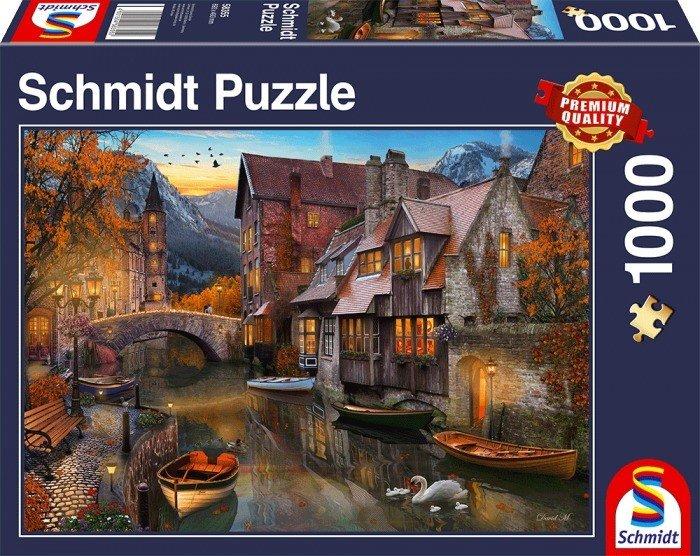 Puzzle Schmidt Casas en el Canal de 1000 Piezas