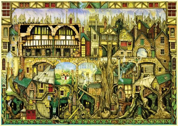 Puzzle Schmidt Casas en los Arboles de 1000 Piezas