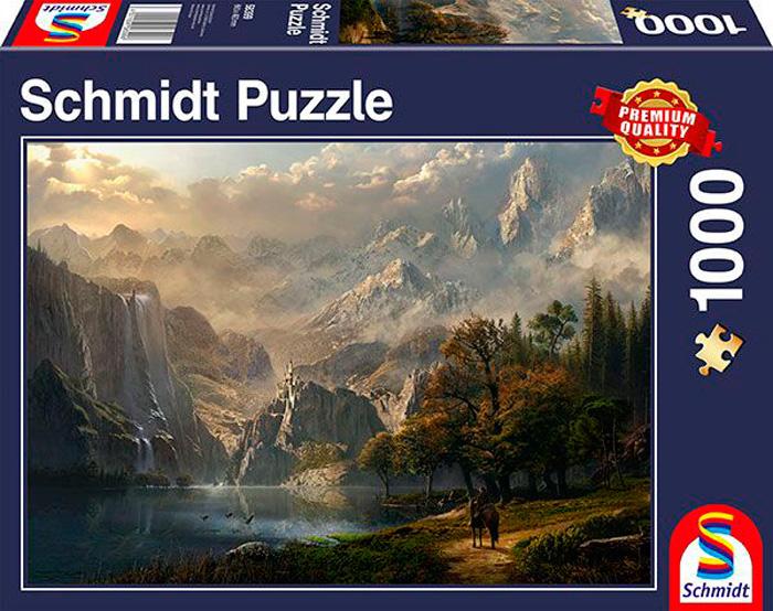 Puzzle Schmidt  Cascada Idílica de 1000 Piezas