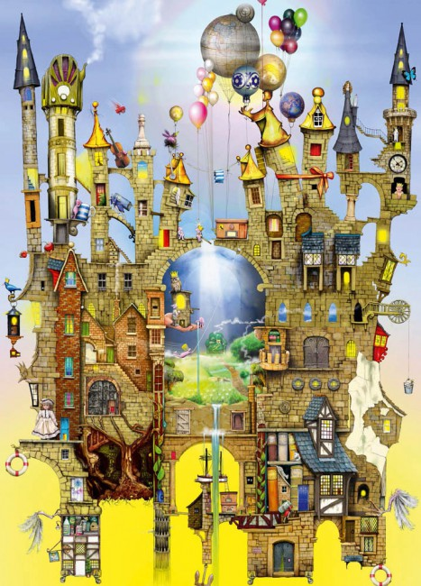 Puzzle Schmidt Castillo en el Aire de 1000 Piezas