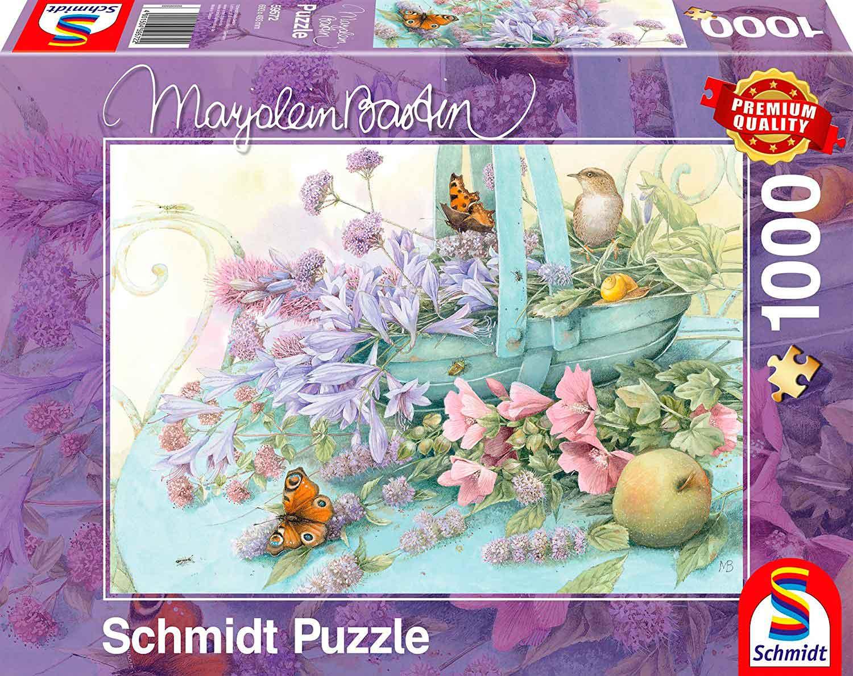 Puzzle Schmidt Cesta de Flores de 1000 Piezas