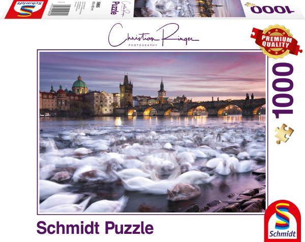 Puzzle Schmidt Cisnes de Praga de 1000 Piezas