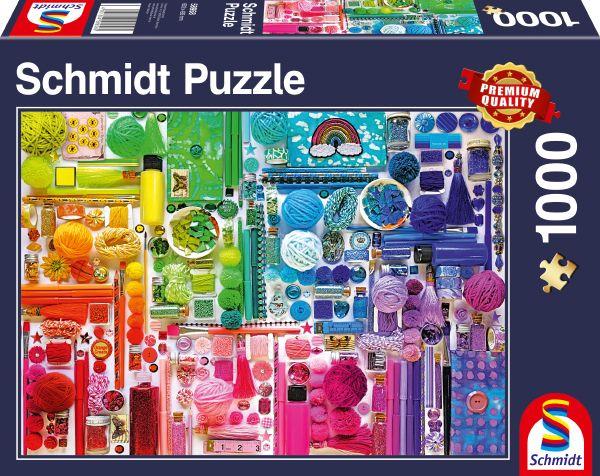 Puzzle Schmidt Colores del Arco Iris de 1000 Piezas
