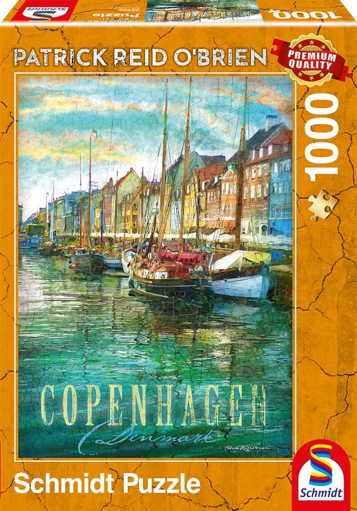 Puzzle Schmidt Copenhague, Dinamarca de 1000 Piezas