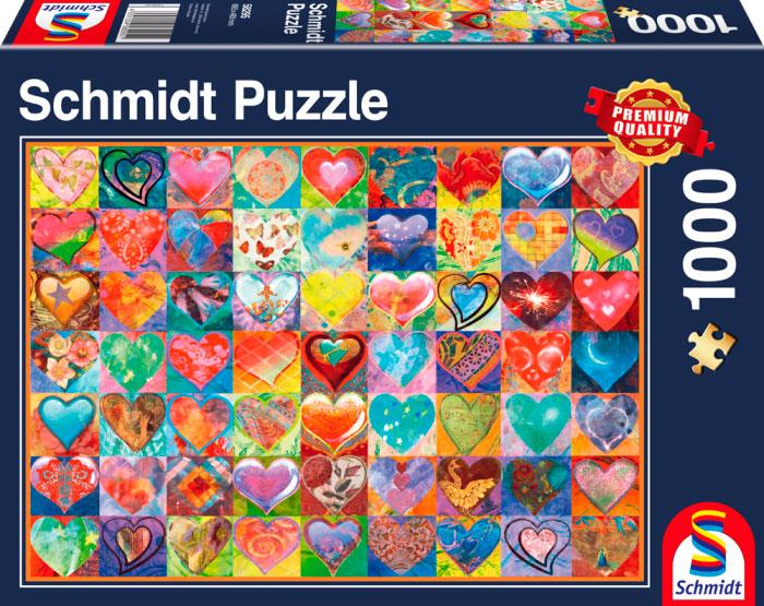 Puzzle Schmidt Corazones Animados de 1000 Piezas