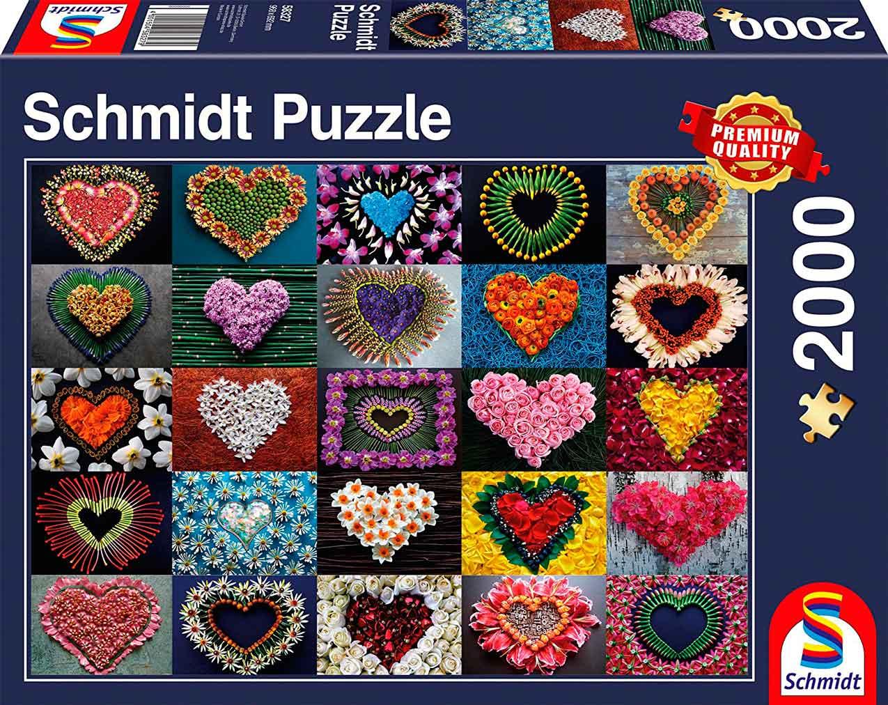Puzzle Schmidt Corazones para Madalene de 2000 Piezas