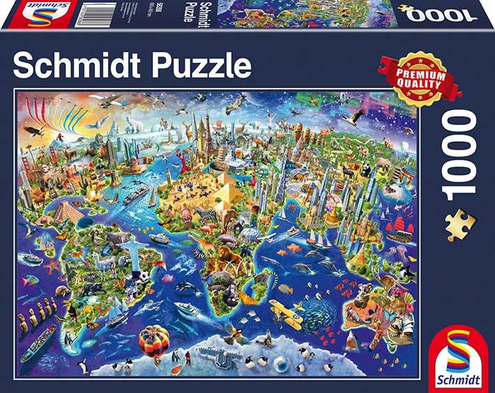 Puzzle Schmidt Descubriendo el Mundo 1000 Piezas