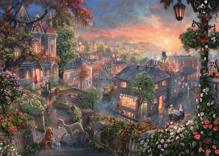 Puzzle Schmidt Disney La Dama y el Vagabundo de 1000 Piezas