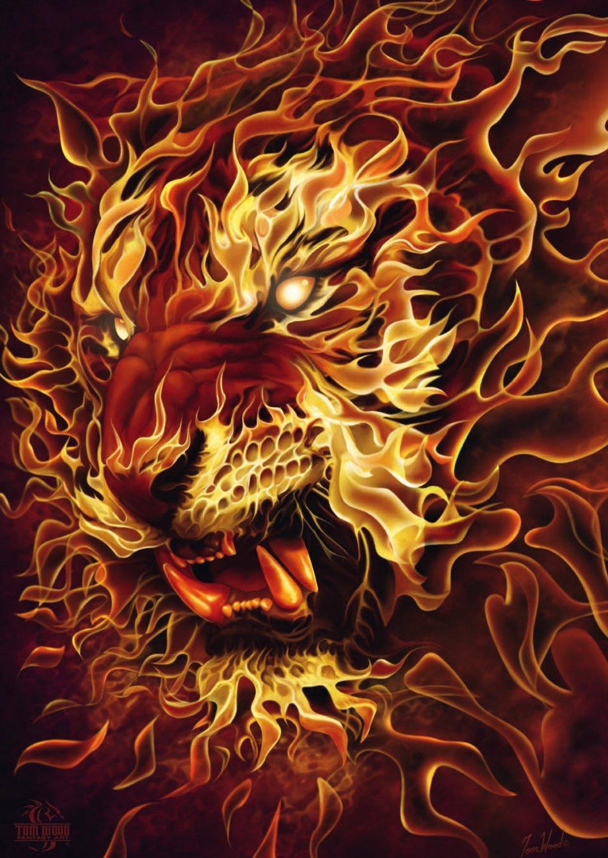 Puzzle Schmidt Tigre de Fuego de 500 Piezas