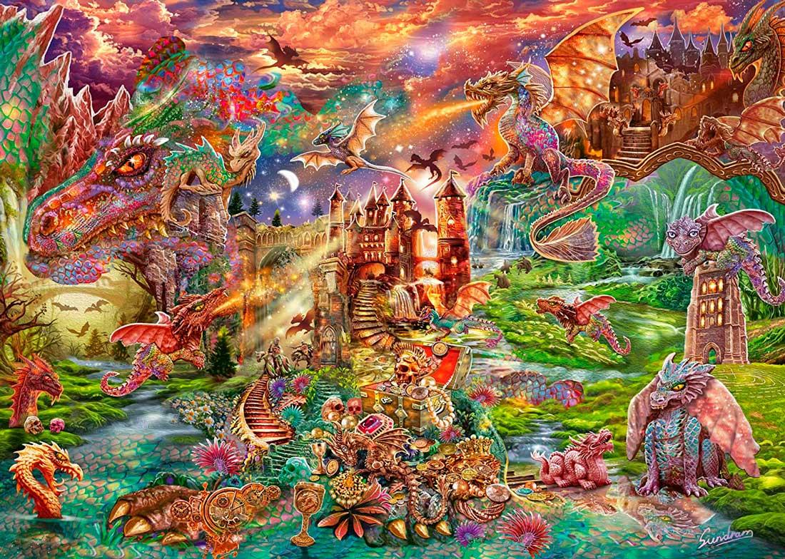 Puzzle Schmidt El Tesoro del Dragón de 2000 Piezas