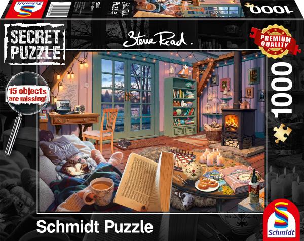 Puzzle Schmidt  En La Casa Vacacional - Secret Puzzles de 1000 P