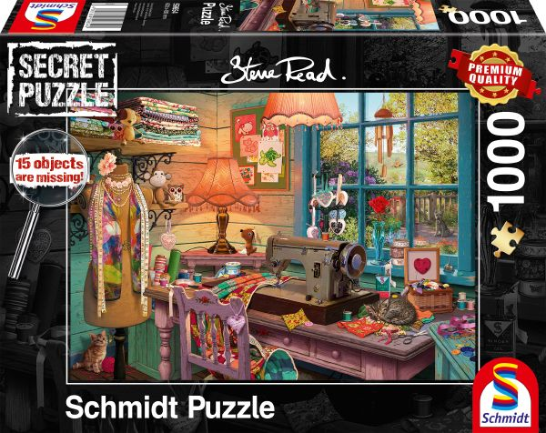 Puzzle Schmidt  En la Sala de Costura - Secret Puzzles de 1000 P