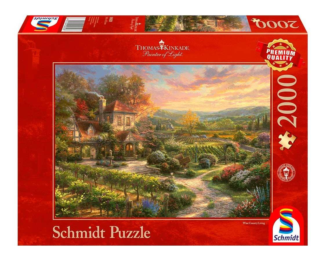 Puzzle Schmidt En Los Viñedos de 2000 Piezas