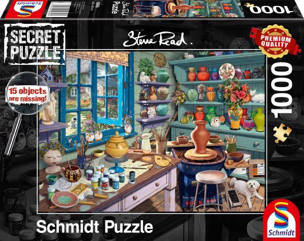 Puzzle Schmidt  Estudio del Artista - Secret Puzzles de 1000 P