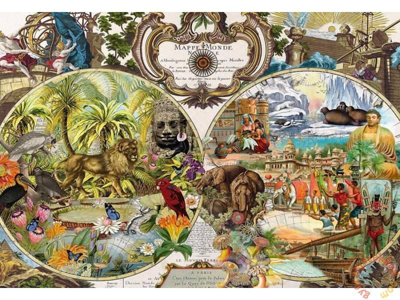 Puzzle Schmidt Exótico Mapa del Mundo de 2000 Piezas