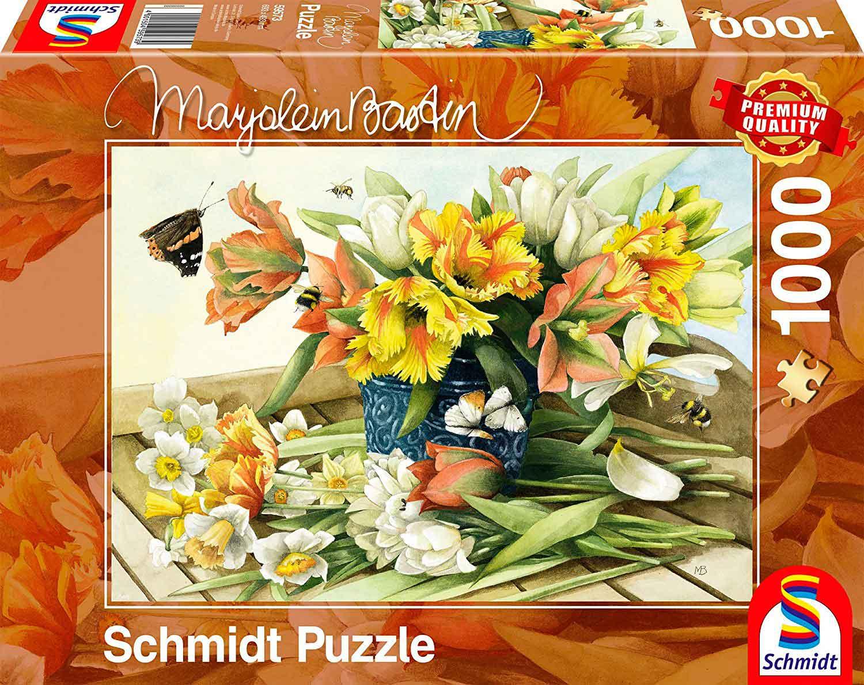 Puzzle Schmidt Flores de Primavera de 1000 Piezas