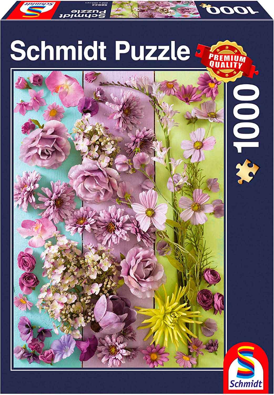 Puzzle Schmidt Flores Violetas de 1000 Piezas