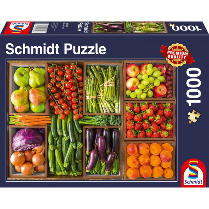 Puzzle Schmidt  Frescos Para el Mercado de 1000 Piezas