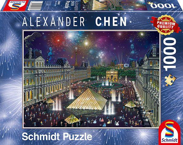 Puzzle Schmidt Fuegos Artificiales en el Louvre de 1000 Piezas