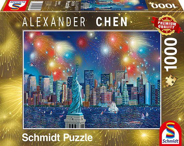 Puzzle Schmidt Fuegos Artificiales en Nueva York de 1000 Pzs