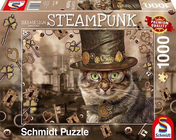 Puzzle Schmidt Gato Steampunk de 1000 Piezas
