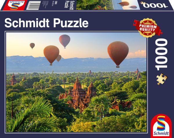Puzzle Schmidt Globos en Mandalay de 1000 Piezas