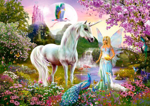 Puzzle Schmidt Hada y Unicornio de 2000 Piezas