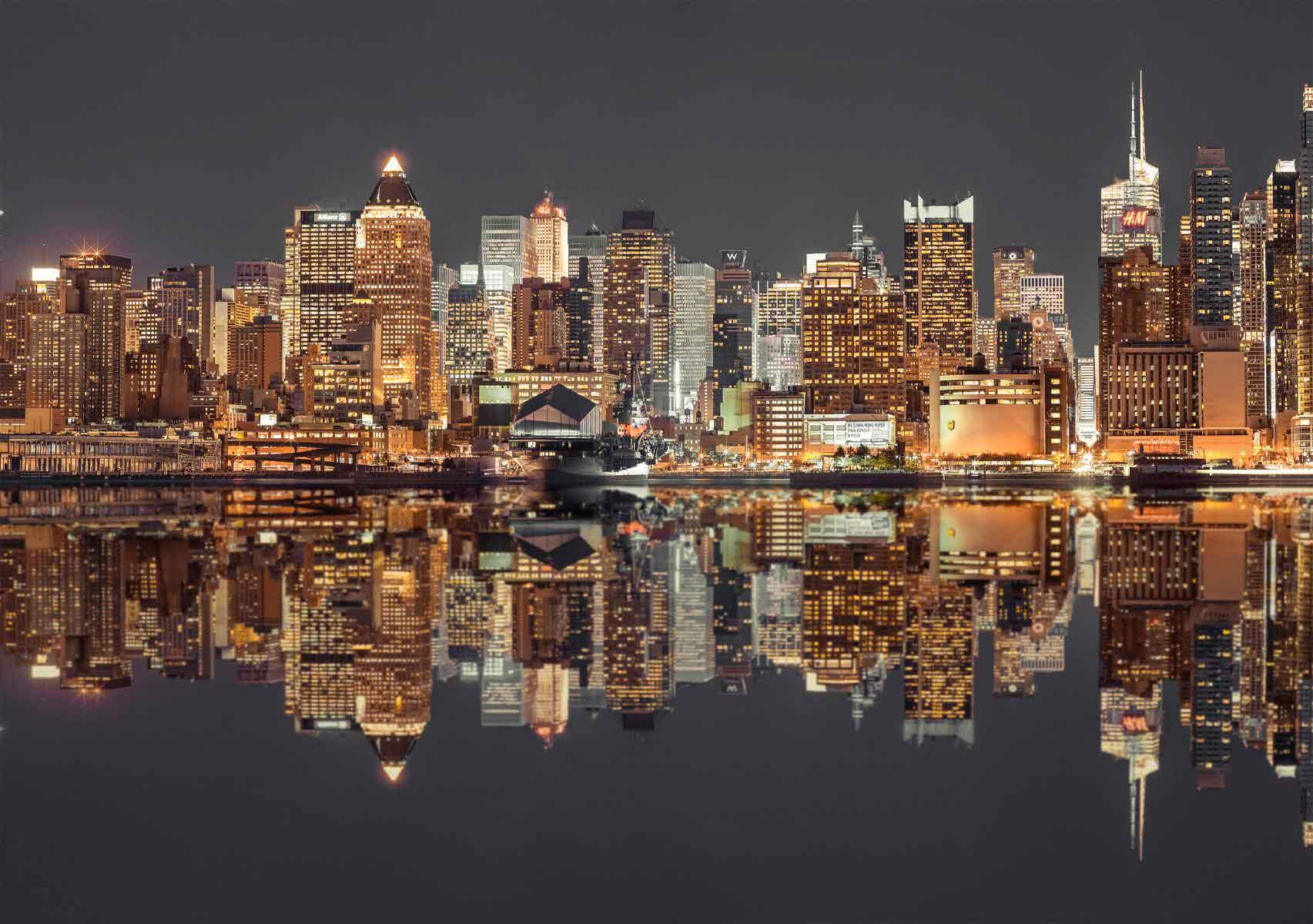Puzzle Schmidt Horizonte de Nueva York Nocturno de 1500 Piezas
