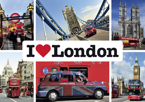 Puzzle Schmidt I Love London de 1000 Piezas