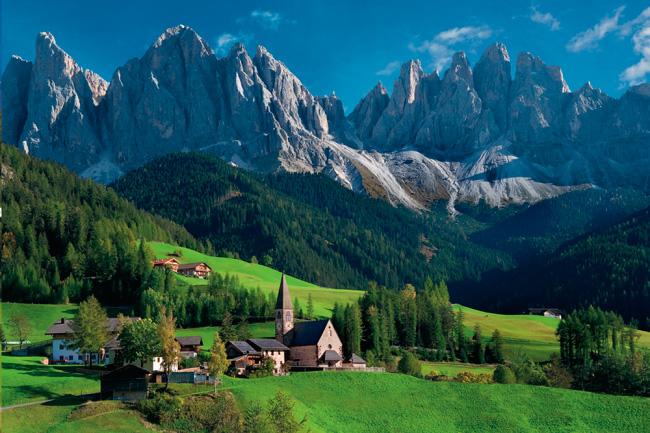 Puzzle Schmidt Iglesia Santa Magdalena, Los Alpes 1000 Piezas
